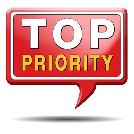 importance: top priority important very high urgency info lost importance crucial information icon stamp button or label Stock Photo