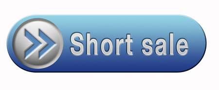 short sale: short sale button or icon reduced prices sales banner Stock Photo