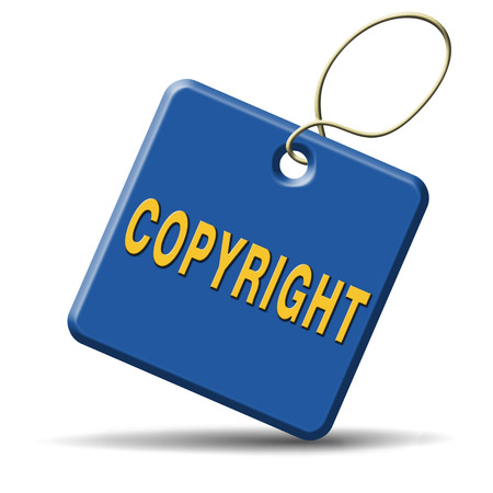 plagiarism: copyright protected by law registered trademark and patent protection Stock Photo