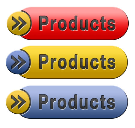 Products for sale at online internet web shop, webshop cataloge button or icon photo
