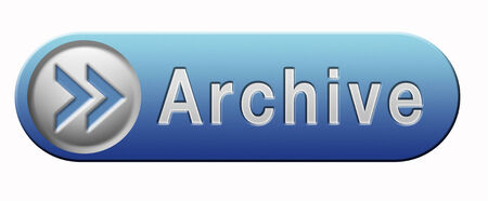 archiving: archive big digital data storage or personal or website archiving button or icon