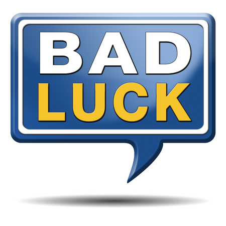 bad luck unlucky day or bad fortune, misfortune Stock Photo - 23933324