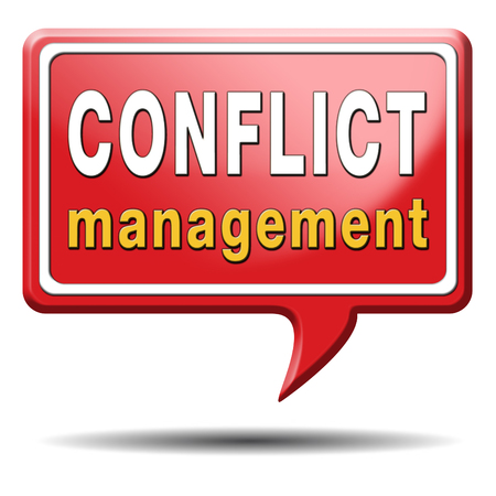 resolved: conflict management in business at work or between couple with different interest solve the problem and find resolution Stock Photo