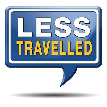 reiste: weniger gereist Reise abseits der ausgetretenen Pfade, um versteckte Sch�tze zu finden Tourismus