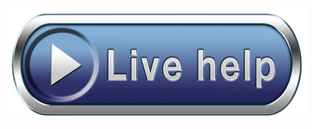 live help online help or support desk call center customer service button or icon photo