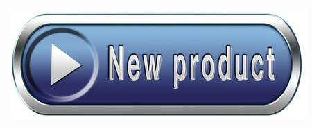 newest: new product coming soon announcement arriving and available soon advertising news Stock Photo