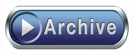 archive big digital data storage or personal or website archiving button or icon photo