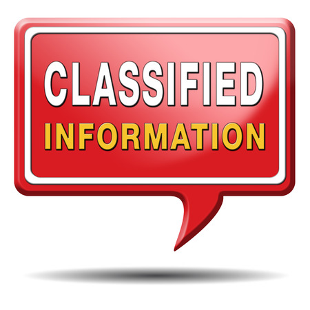 classified info and confidential secret information file or document photo
