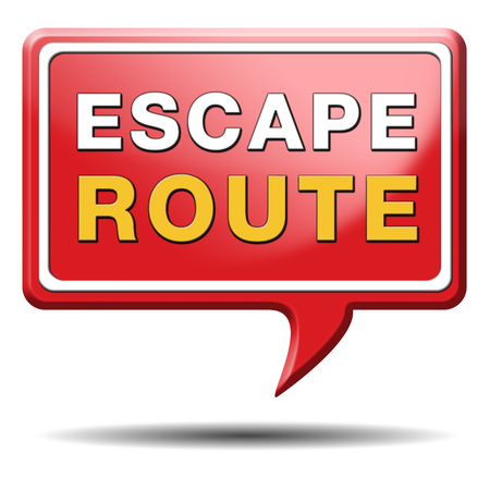 break out of prison: escape route avoid stress and break free running away