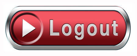 logout: logout button or user or member logout banner Stock Photo