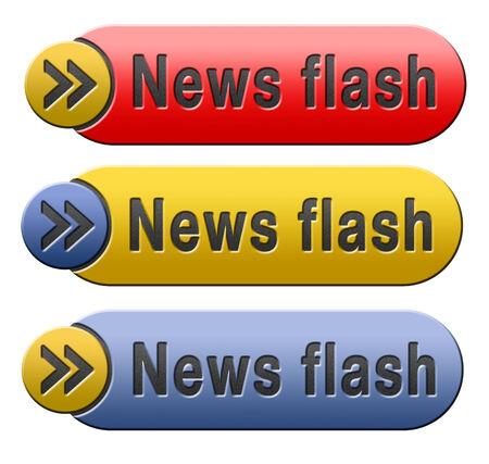 actuality: notizie flash con gli ultimi oggetti caldi rottura Archivio Fotografico