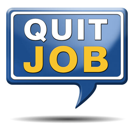 quit job resign quitting from work and getting unemployed Stock Photo - 23992958