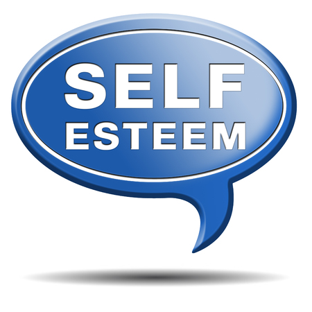 self respect: self esteem or respect confidence and pride psychology Stock Photo