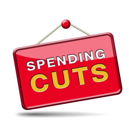 spending:  spending cut lower budgets and public spendings cuts economic recession Stock Photo