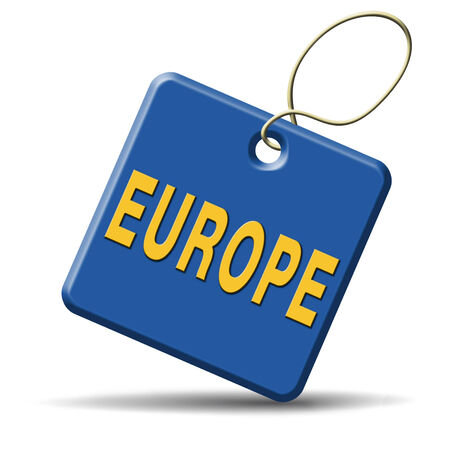 Europe icon or button indicating direction to explore the old continent travel vacation tourism photo