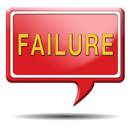 failing: failure fail exam or attempt can be bad especially when failing an important job task or in your study failing an exam. You feel frustrated and being a looser, button or icon