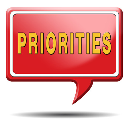 crucial: priorities important very high urgency info lost importance crucial information top priority icon stamp button or label Stock Photo