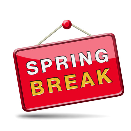 holliday: spring break holliday or school vacation icon or button