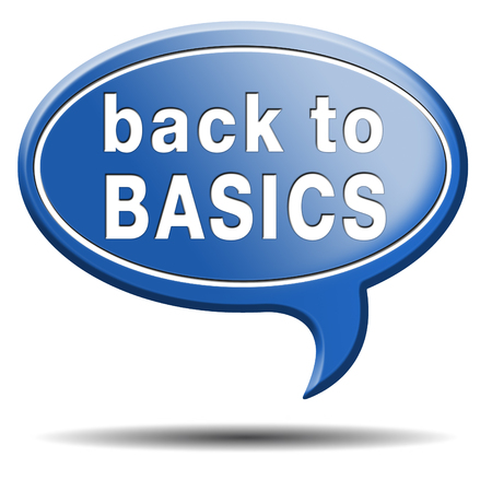 Back to basics to the beginning keep it simple and basic primitive simplicity Stock Photo
