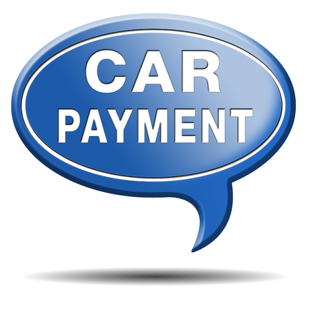 car payment or loan from bank financing for expensive first mobile buying on credit Stock Photo - 24419921