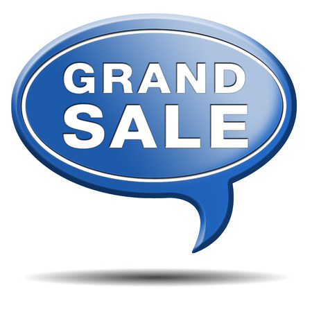 grand sale sales and reduced prices % off Stock Photo - 24420083
