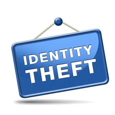 cyber crime: identity theft stop warning sign stealing ID online is an internet or cyber crime