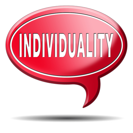 personality development: individuality stand out from crowd being different having a unique personality be one of a kind personal development and existence Stock Photo