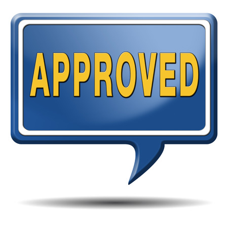 approval label: Approved  by quality control approval label icon or sticker
