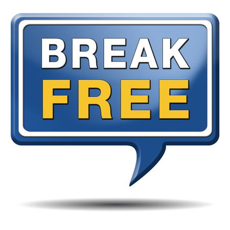 break free from prison pressure or quit job running away towards stress free world photo