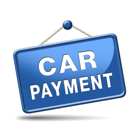 car payment or loan from bank financing for expensive first mobile buying on credit Stock Photo - 24420973
