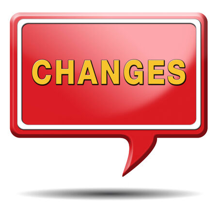 changes ahead going different direction change and improvement making thing better for the future positive evolution improve the world and progress to the best Stock Photo - 24420996