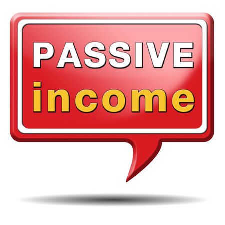 passive income earn money online earn more work less residual recurring income Stock Photo - 24421072