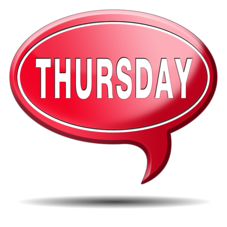 thursday week next or following day schedule concept for appointment or event in agenda Stock Photo - 24421113