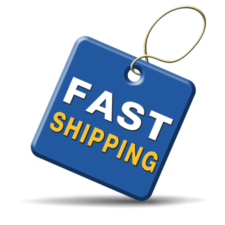 fast shipping package delivery from online internet webshop order shopping icon or button for web shop photo