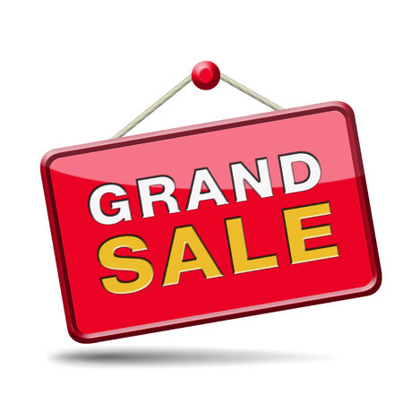 grand sale sales and reduced prices % off photo