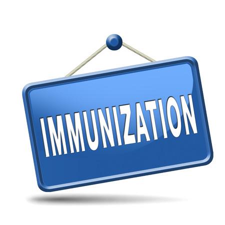 immunization: immunization or flu vaccination needle