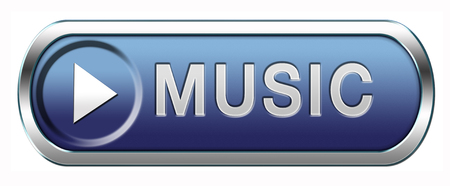 live stream radio: Music button or icon to listen live stream or for download Stock Photo