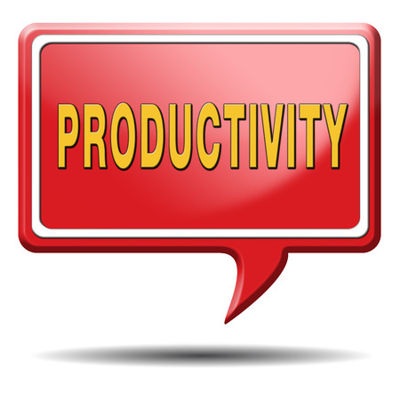 productive: productivity industrial or business productive time management production costs maximizing output rate Stock Photo