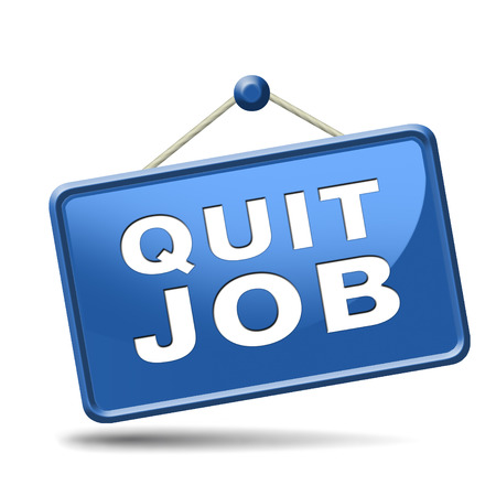quit job resign quitting from work and getting unemployed Stock Photo - 24421321