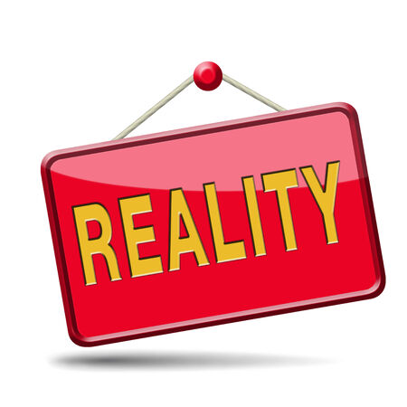 actuality: reality check for real and realistic goals  Stock Photo