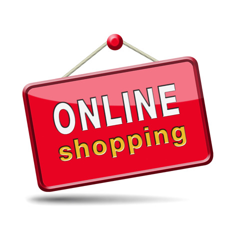 online shopping internet web shop webshop icon or button photo