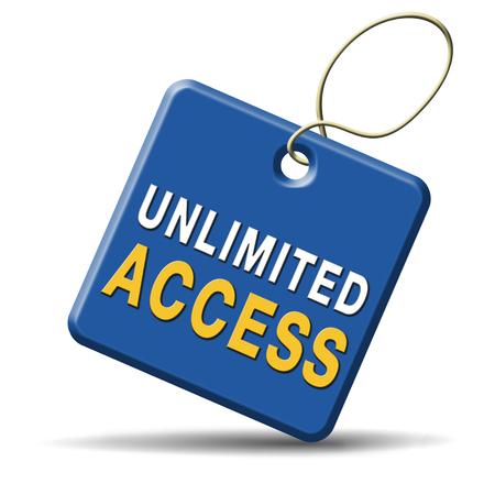 no pase: acceso ilimitado todos los ámbitos sin restricciones de membresía VIP Foto de archivo