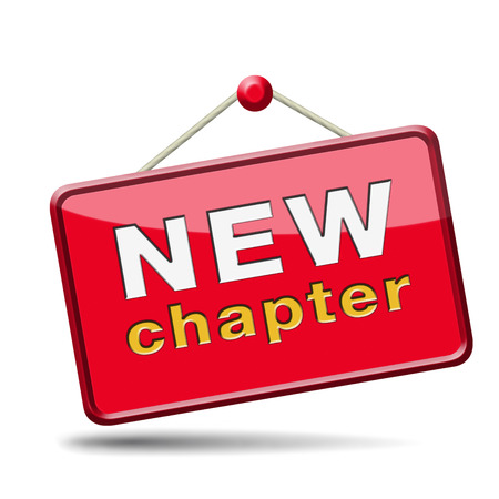 new chapter fresh start over or begin again and have an extra opportunity Stock Photo - 24457982