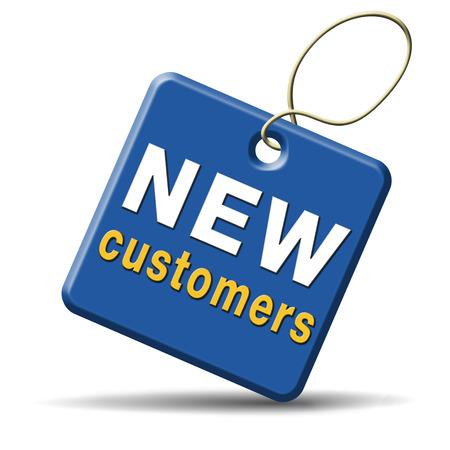 Nuevos clientes atraen compradores aumentar el tráfico por la comercialización y promoción de productos Foto de archivo - 24457983