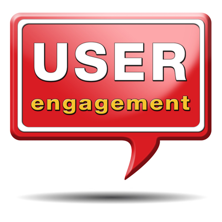 crowd sourcing: user engagement users generated content and crowd sourcing Stock Photo