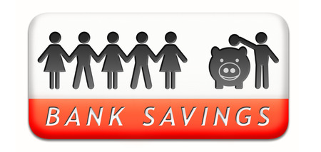 saving money in piggy bank deposit account with savings plan save cash photo