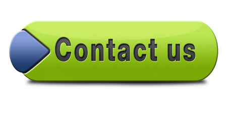 contact us for feedback icon or sign. Coordinates and address for customer support and extra information photo
