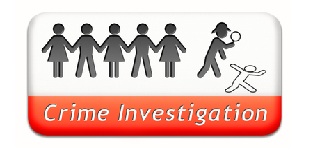 criminal case: crime scene investigation murder forensic science invest criminal case and searching and collecting evidence to solve assassination