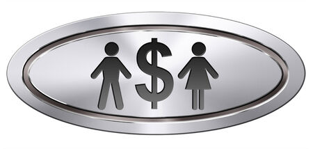 equal rights: equal pay equal rights for man and woman on work marked fair payment opportunities with same salary