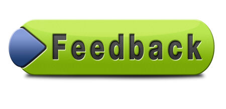 feedback icon: feedback or testimonials icon or button. Publical comments for improvement and customer satisfaction Stock Photo